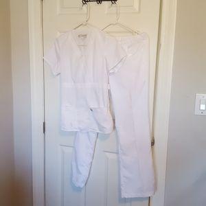 Grey's Anatomy white scrubs